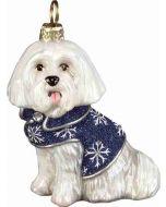 DIVA Maltese in Blue Snowflake Coat