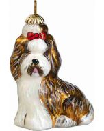 Shih Tzu Brown and White Pendant - Now on Clearance!