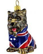 Yorkie in Union Jack Coat