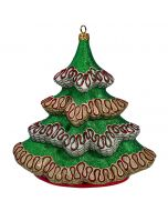 """Glitterazzi Tabletop Ribbon Candy O Christmas Tree - (Approx. 8"""" Tall, Brass Stand included) - Now on Clearance!"""