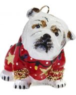 Bulldog in Ugly Christmas Sweater