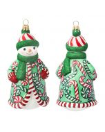 Glitterazzi Candy Cane Soup Snowman