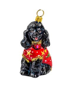Poodle Black in Ugly Christmas Sweater - NEW!