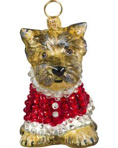 Yorkie Puppy in Crystal Encrusted Coat