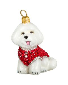 Bichon with Crystal Encrusted Coat