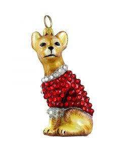 Chihuahua in Full Crystal Encrusted Coat