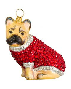 French Bulldog Cream with Crystal Encrusted Coat