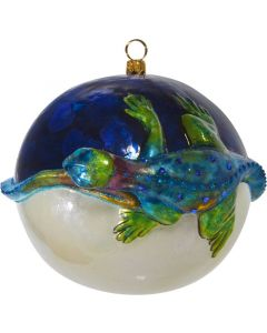 Glitterazzi 3D Jeweled 110MM Ball with Blue Iguana - Now on Clearance!