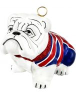 Bulldog with Union Jack Flag Coat