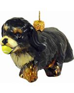 Cavalier King Charles Black and Tan with Tennis Ball