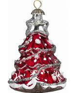 Christmas Tree Pendant - Red and Silver Version - Now on Clearance!