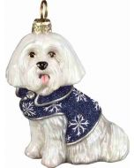 DIVA Maltese in Blue Snowflake Coat