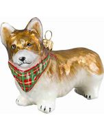 Pembroke Welsh Corgi with Tartan Bandana