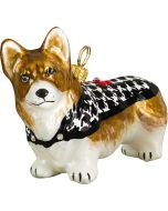 Pembroke Welsh Corgi in Hounds Tooth Coat