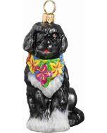 Portuguese Water Dog with Hawaiian Bandana - Now on Clearance!