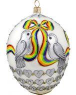 Timeless Rainbow Love Birds Jeweled Egg
