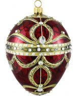Red Imperial Jeweled Egg
