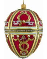 Red Russian Jeweled Egg