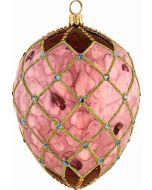 Rose Petal Jeweled Egg