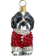 Shih Tzu Black & White in Crystal Encrusted Coat
