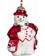 Tatra Mountain Snowman Pendant - Red and Silver Version - Now on Clearance!
