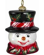 Vintage Snowman Pendant - Holly Berry Version - Now on Clearance!
