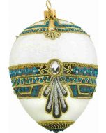 White and Turquoise Egg