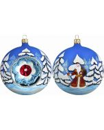 Woodlands Santa Reflector Ball