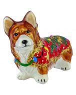 Pembroke Welsh Corgi in Ugly Christmas Sweater