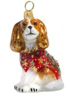 Cavalier King Blenheim in Ugly Christmas Sweater