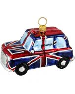 London Taxi Wrapped in Union Jack Flag