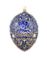 Glitterazzi Gold Filigree Jeweled Egg