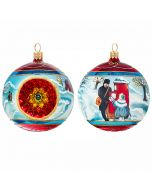 Vintage British Christmas Reflector Ball