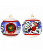 Vintage Euro Santa Reflector Ball