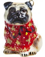 Pug Fawn in Ugly Christmas Sweater