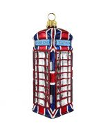 British Phone Booth Wrapped in Union Jack Flag