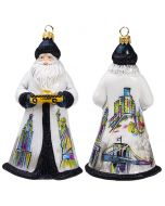 Glitterazzi New York Santa Holding a Yellow Taxi - NEW!