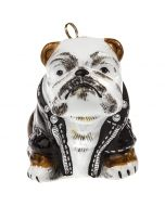 Bulldog in Motorcycle Jacket