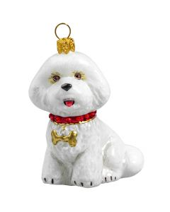Bichon Frise with Swarovski Crystal Collar