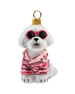 Bichon Frise in Pink Camo Jacket & Sunglasses - NEW!