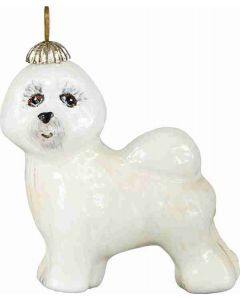 Bichon Frise Pendant Ornament - Now on Clearance!