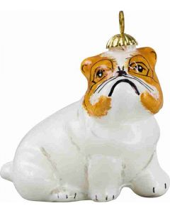 Bulldog White Pendant Ornament - Now on Clearance!