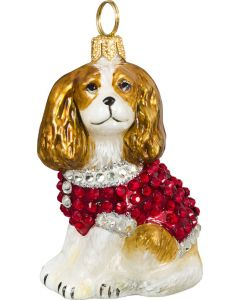 Cavalier King Blenheim with Crystal Encrusted Coat