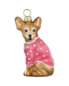 DIVA Chihuahua with Pink Velvet Coat
