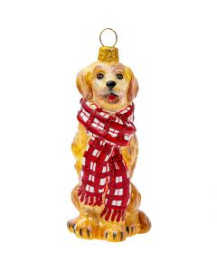 Golden Retriever in Tartan Plaid Bushy Scarf - NEW!