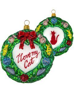 I Love My Cat Wreath - NEW!