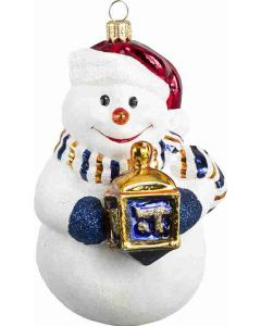 Interfaith Union Snowman with Dreidel