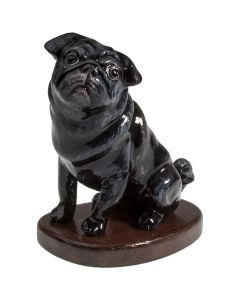 Pug Black Paper Mache - Now on Clearance!