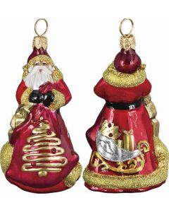 Mini Red and Gold Sleigh Santa