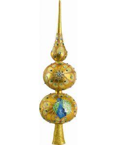 Golden Peacock Finial